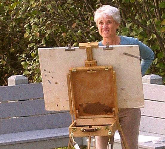 Dorothy Fagan artist painting plein air pastel