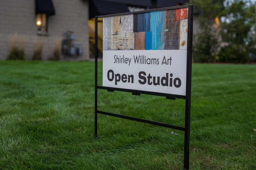Open Studio Sign at Shirley Williams Art studio