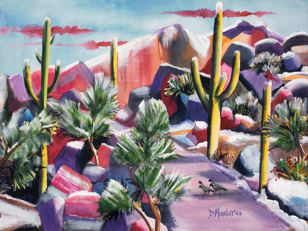 Hummer in Snow | Madaras | Tucson Art Gallery