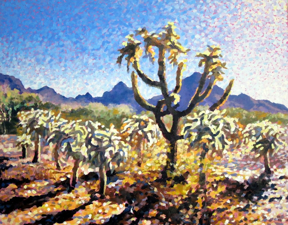 Sun Drenched Cholla | Southwest Art Gallery Tucson