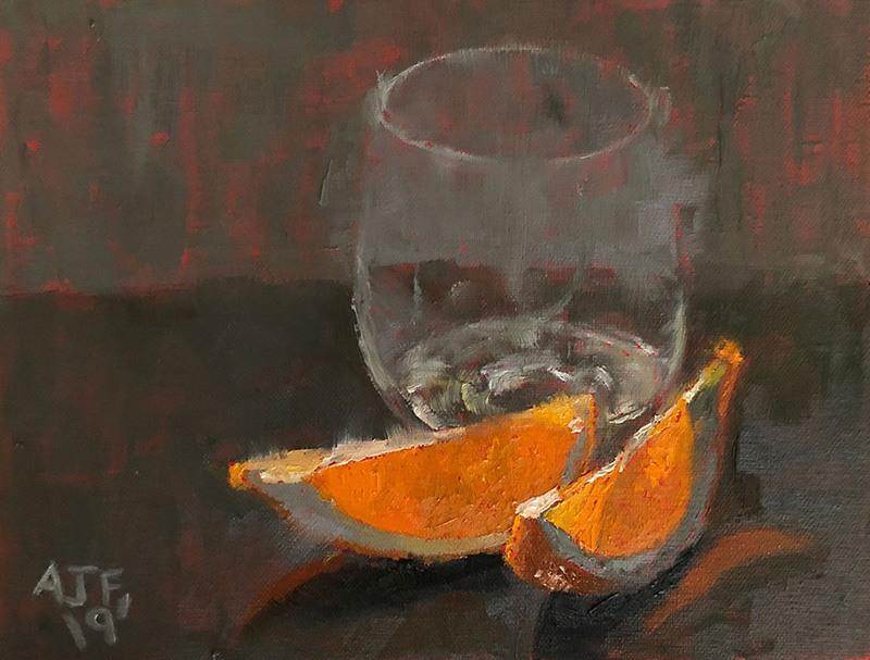 Abbey Fitzgerald Artist Orange Light Study