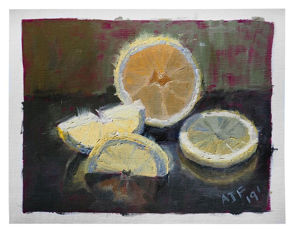 Abbey Fitzgerald Lemon Painting