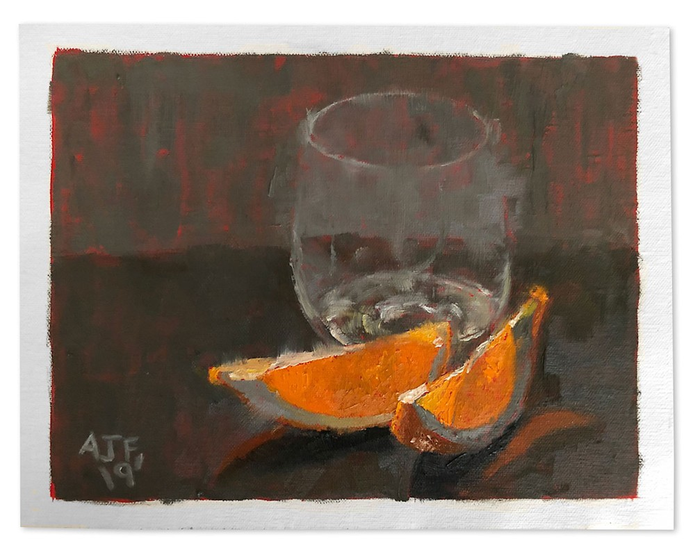 Abbey Fitzgerald Orange Painting