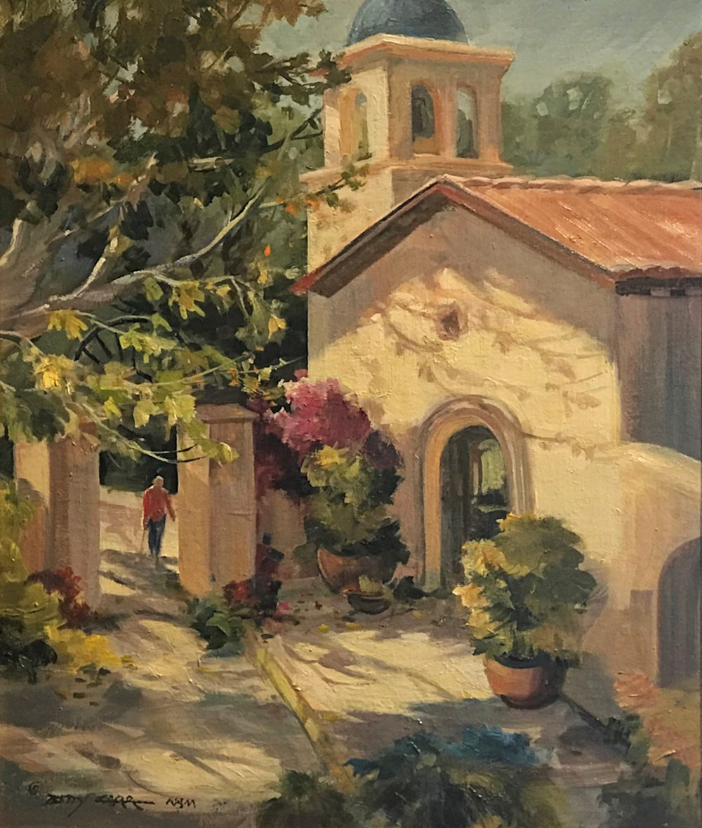 Chapel in the Fall | Southwest Art Gallery Tucson