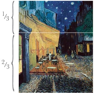 Van Gogh in thirds