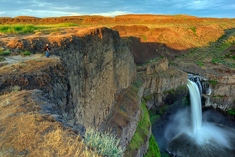 Me photographing at Palouse Falls