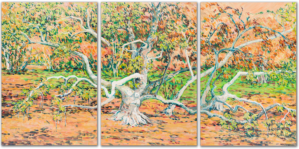Fall Sycamore Tryptic