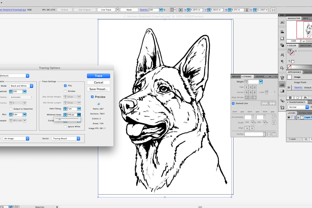 How To Turn A Line Drawing Of Your Dog Into A Custom Vinyl
