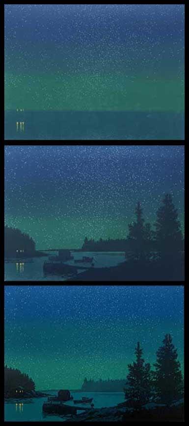 Coastline Nocturne, impressions 2-4