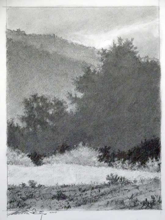 "Sketch for ""Kissed By The Sun"" by William H. Hays"