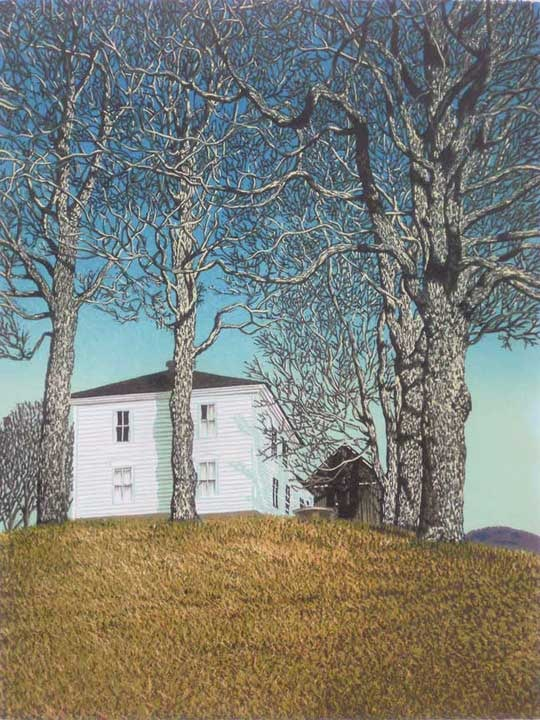 Halifax House linocut print by William H. Hays