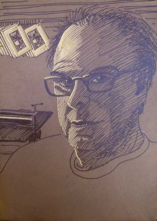 Self Portrait block by William H. Hays