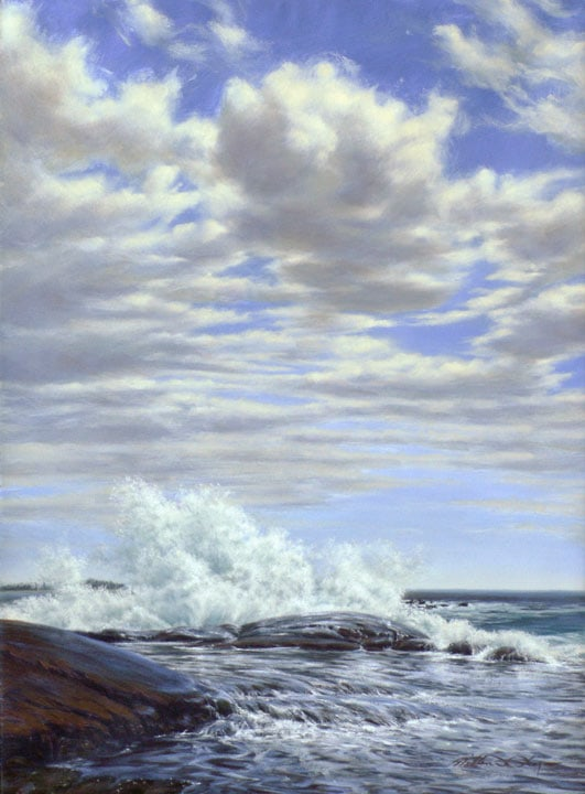 The Wave, oil painting by William H. Hays