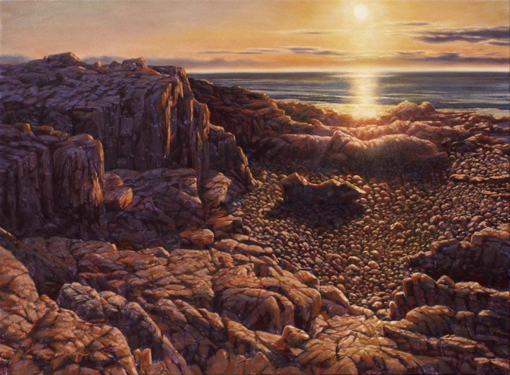 Brier Island Sunset (first version), oil on canvas by William H. Hays
