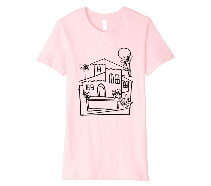 Women's Zepeda Tropical House Party Painting T-Shirt