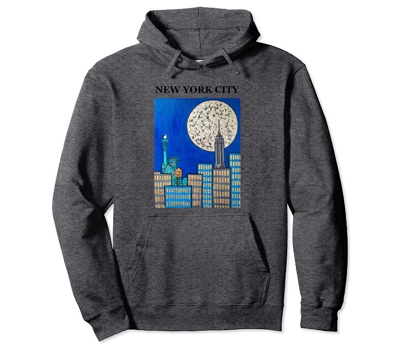 New York City Supermoon Zepeda Painting Sweatshirt