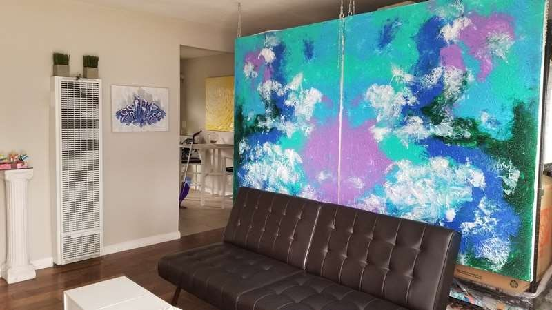 Peel Painting as a giant room divider