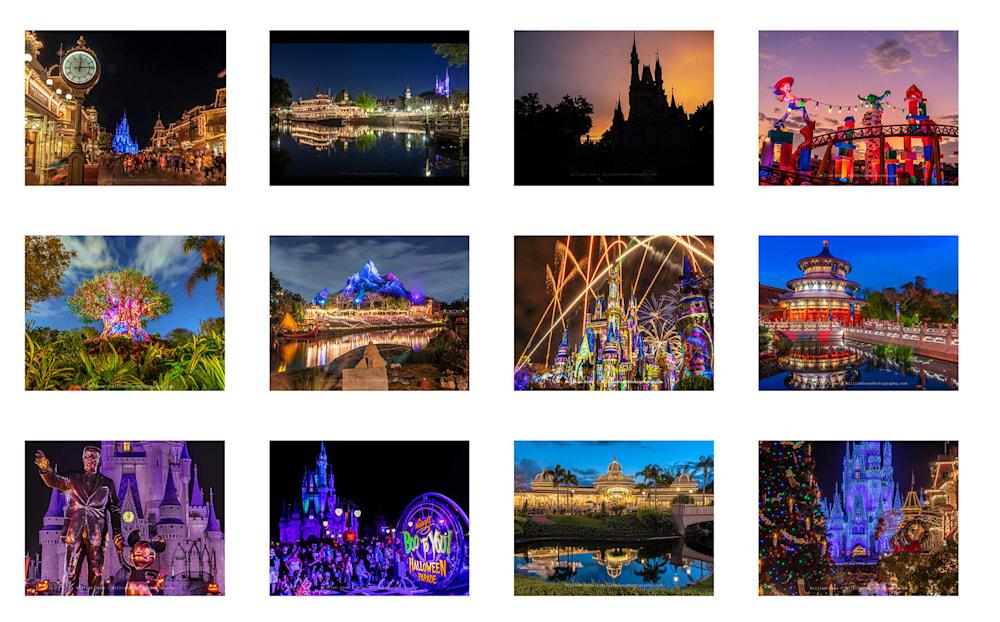 2020 Walt Disney World 12-Month Wall Calendar by William Drew Photography