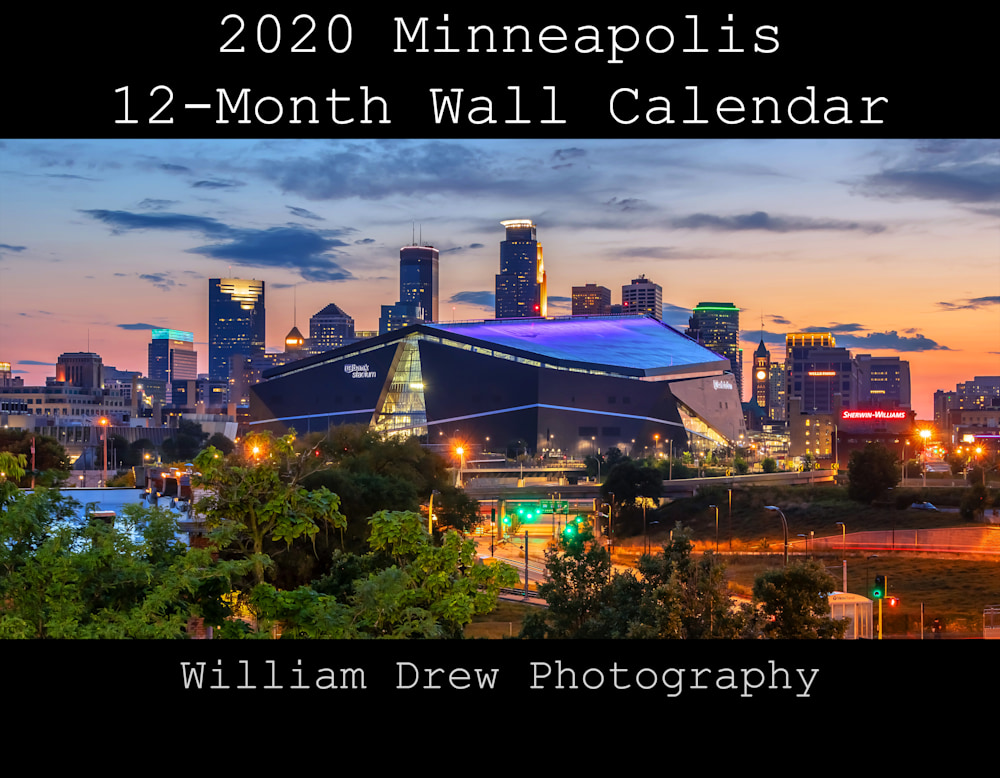 2020 Minneapolis 12-Month Wall Calendar by William Drew Photography