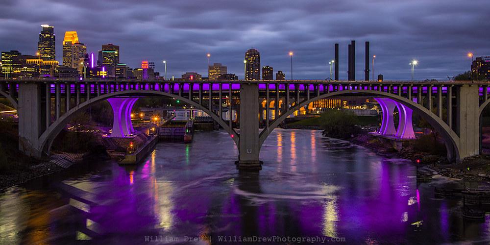 Purple for Prince - Minneapolis Purple Lights | William Drew Photography