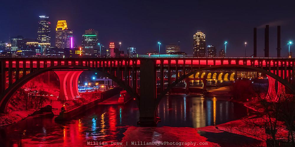 Valentines Day Minneapolis Red Print - City Art | William Drew Photography