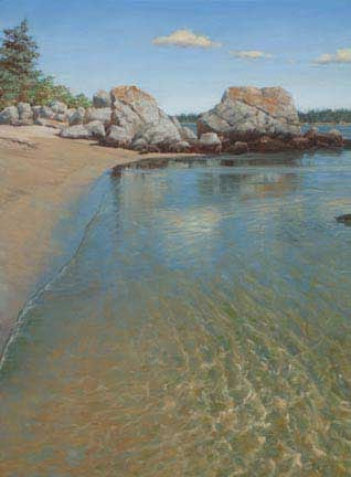 Carters Beach Rocks, oil on canvas by William H. Hays