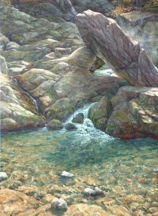 Pikes Falls, oil on canvas by William H. Hays