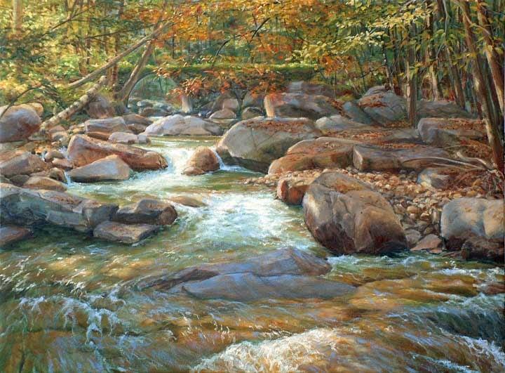 Stickneybrook Bridge, oil on canvas by William H. Hays