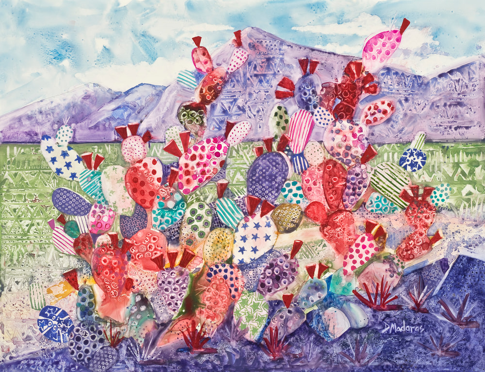 Patterns on the Prickly Pear watercolor