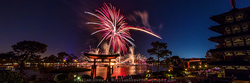 Epcot Fireworks Spectacular 1 - EPCOT Fireworks | William Drew Photography