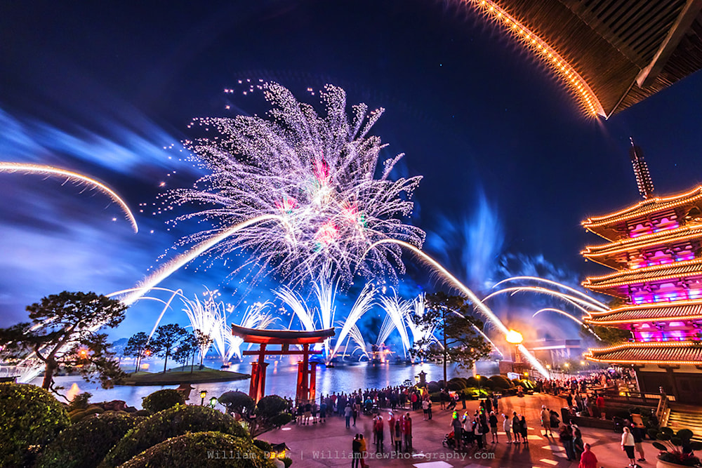 Epcot Fireworks Spectacular 6 - Disney Art | William Drew Photography