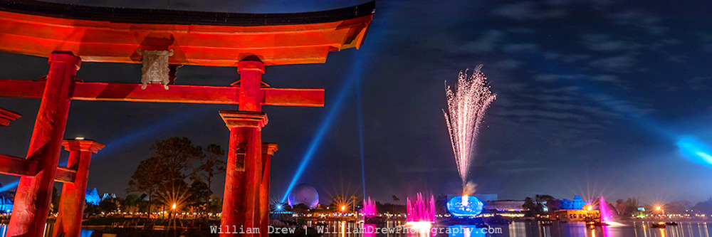 Illuminations from Epcot's Japan - Epcot Center Photos | William Drew Photography