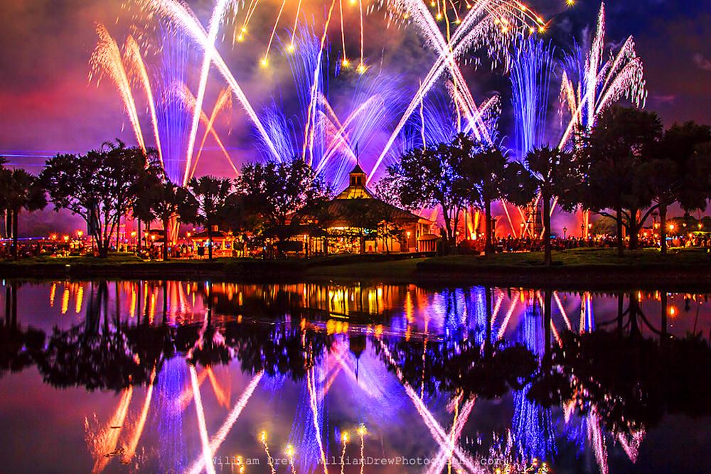 Purple Disney Reflection - Disney Wall Art | William Drew Photography