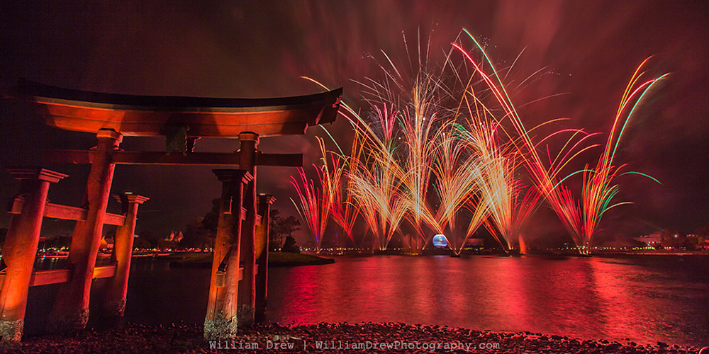 Red Illuminations - Epcot Center Photos | William Drew Photography