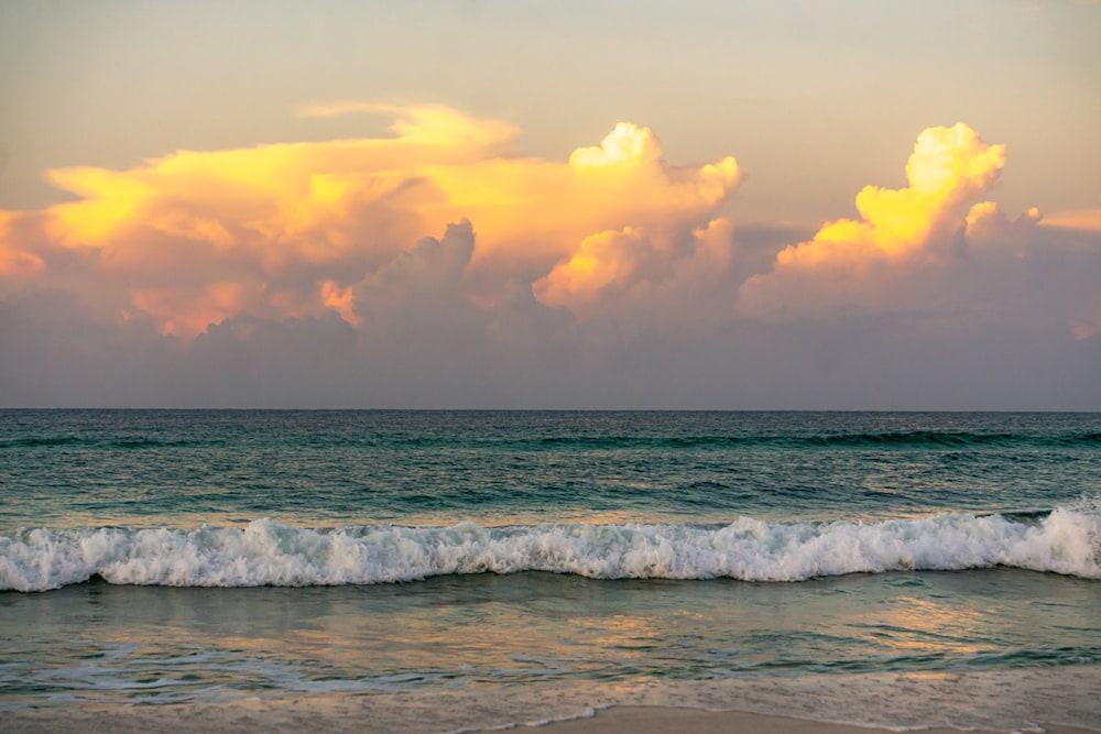 A fiery orange sunrise in Destin, Florida