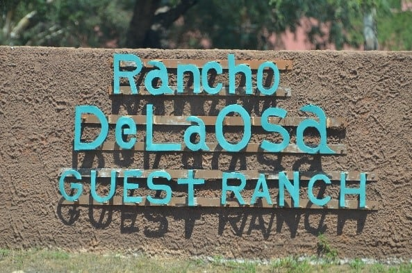 Rancho De La Osa sign