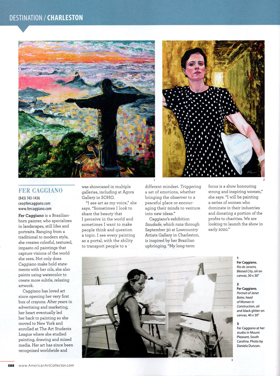 American Art Collector 1 page feature