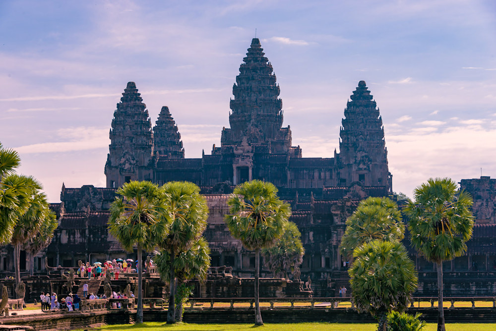 The main temple at Angkor Wat in Cambodia
