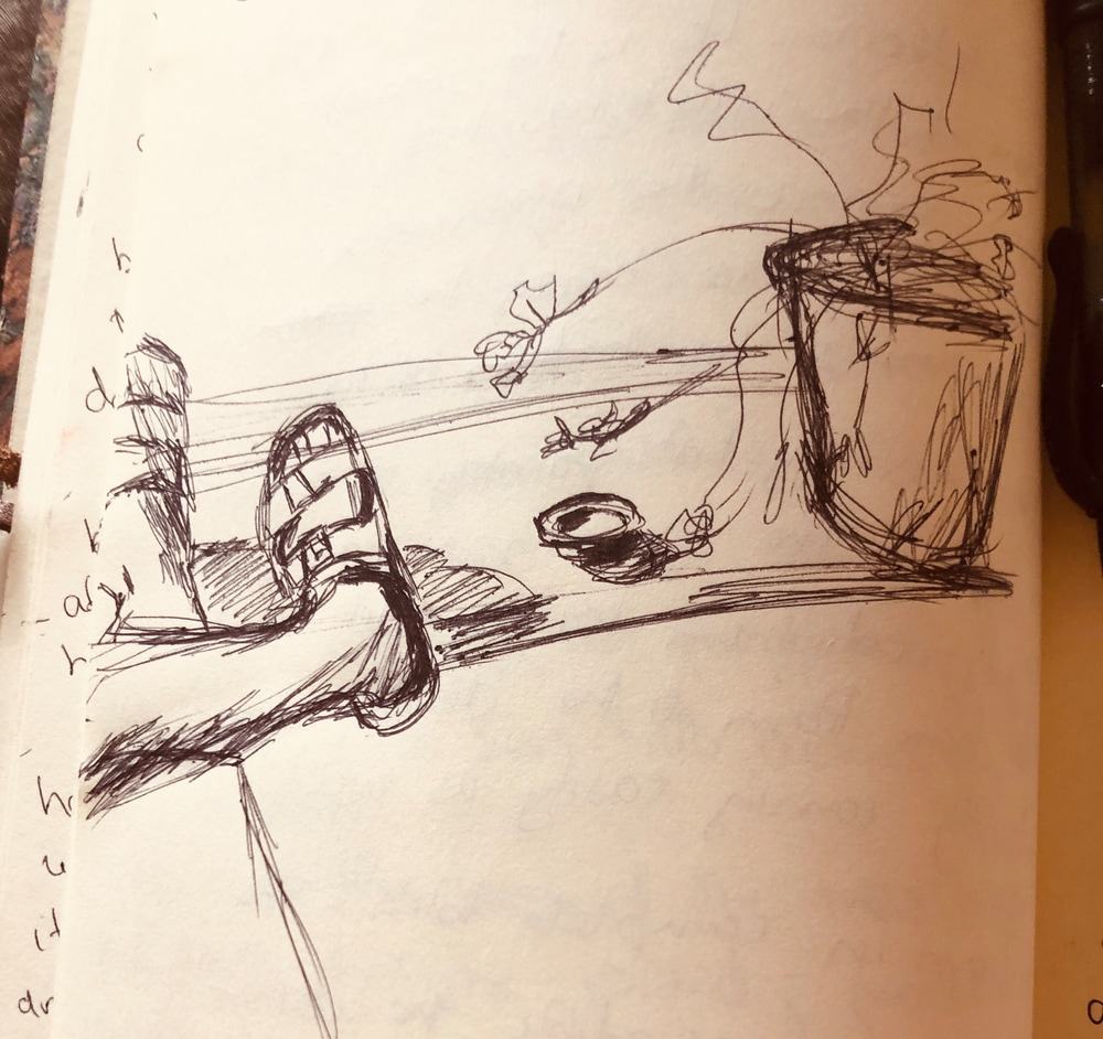 Sketch in Journal from Villa Pepi, Florence.