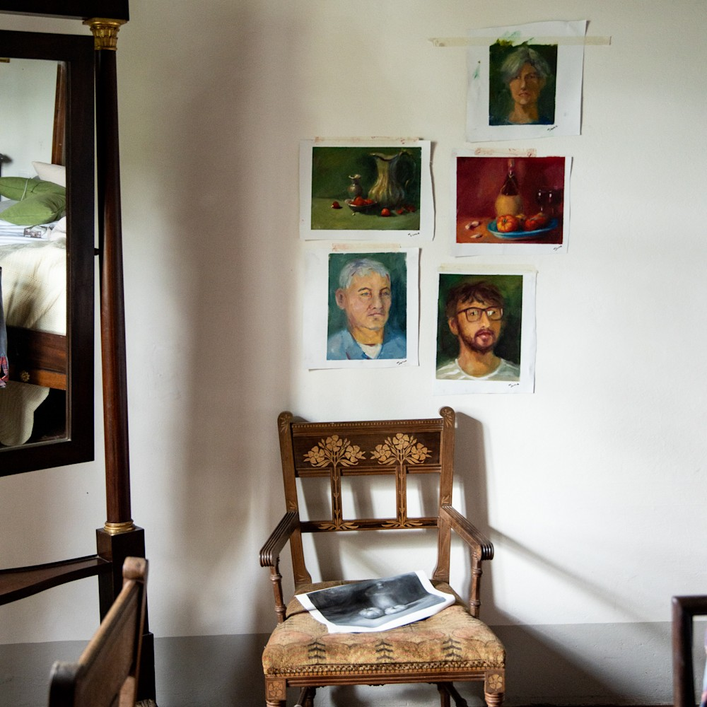 Paintings Completed at Villa Pepi, Florence