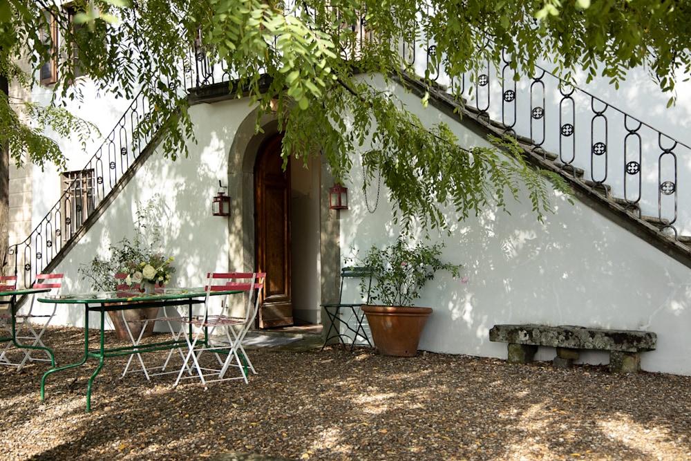 The patio at Villa Pepi