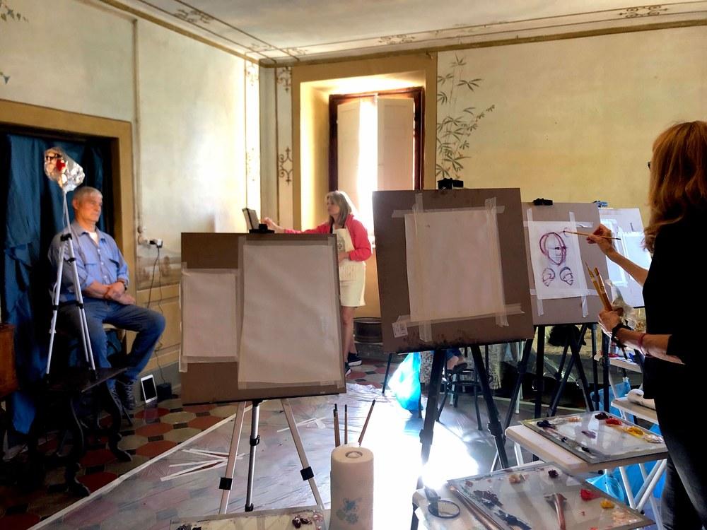 portrait painting at villa pepi