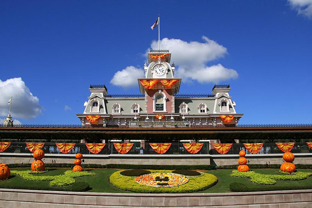 Halloween Train Station - Disney Halloween Photographs | William Drew Photography