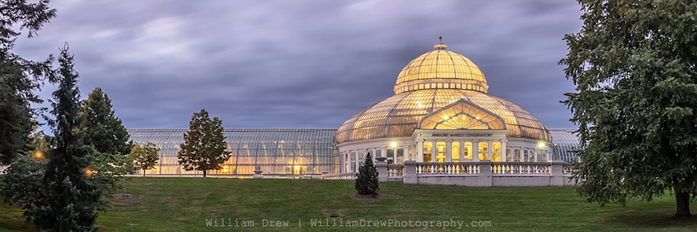 Marjorie McNeely Conservatory Cloudy Sky Photography - St Paul Pictures | William Drew Photography