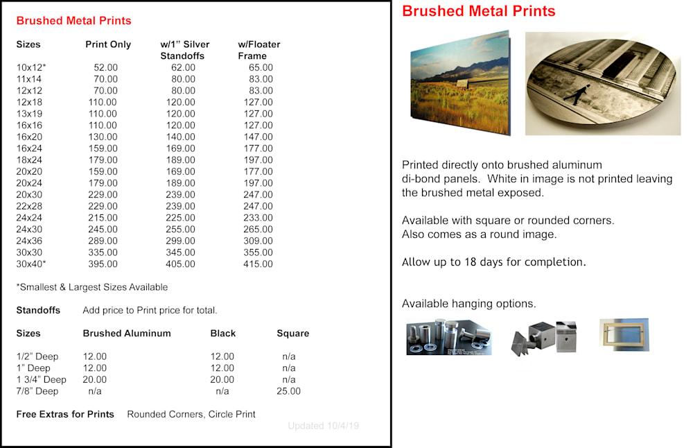 Brushed Metal Pricing