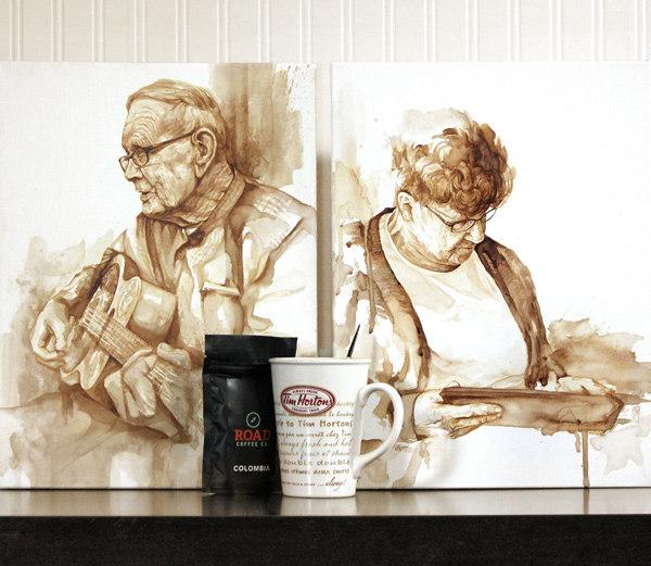 Ray and Verna Daae - Coffee Paintings