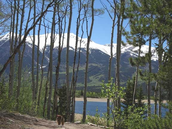 Twin Lakes in the Rocky Mountains