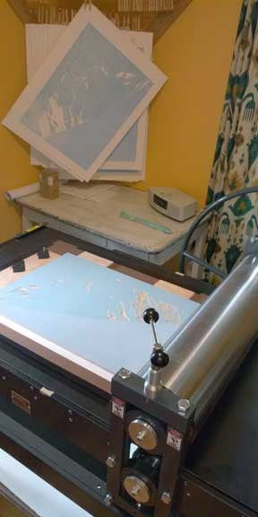 New etching press