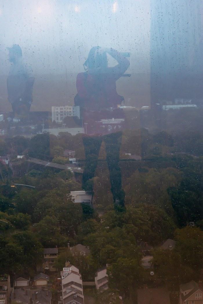 Self-portrait in window - Downtown Atlanta