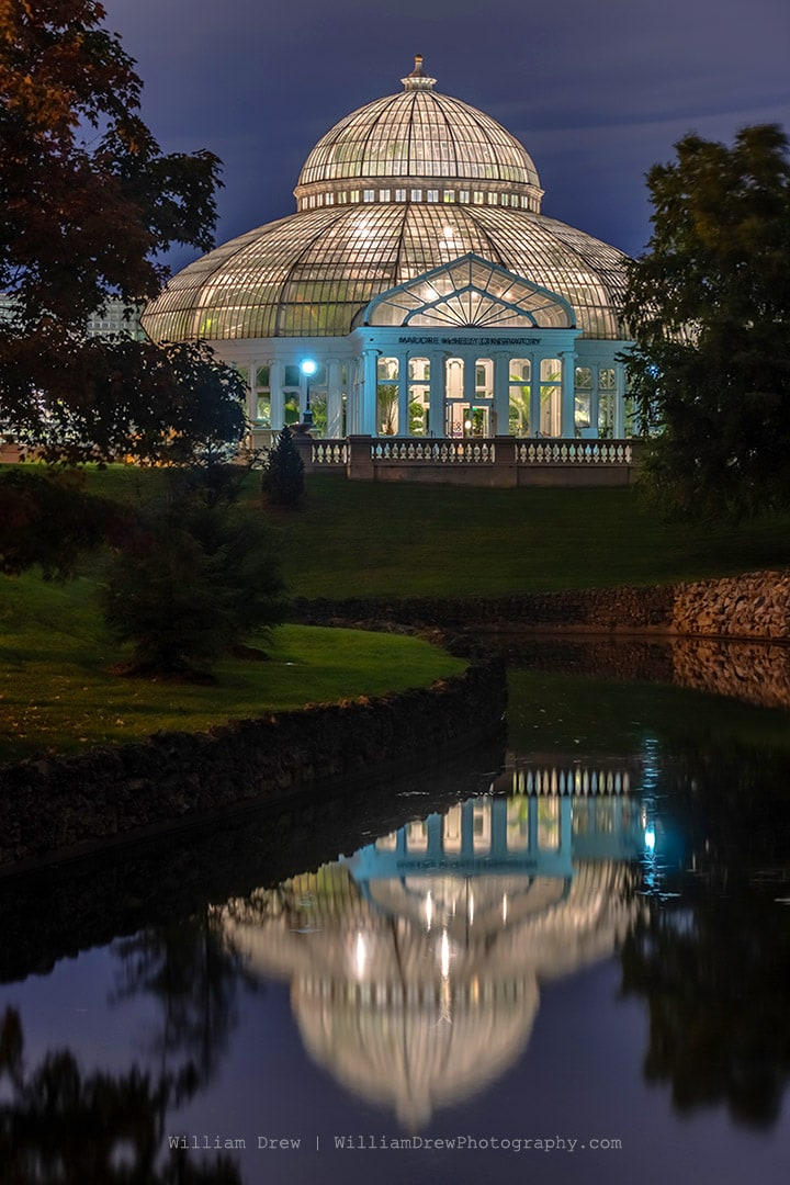 Conservatory Evening | Como Zoo Conservatory Photos | William Drew Photography